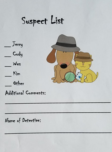 suspects list